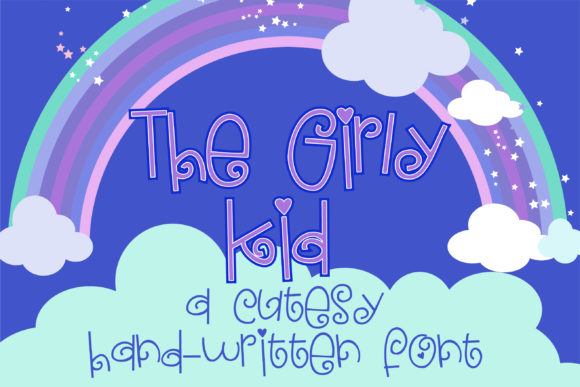 The Girly Kid Script & Handwritten Font By Illustration Ink