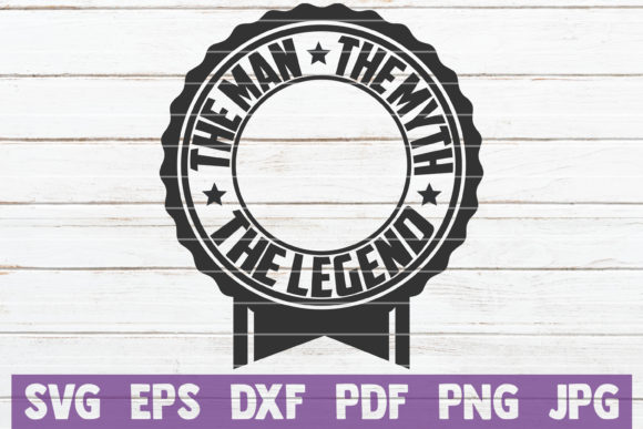 Download Free The Man The Myth The Legend Monogram Svg Graphic By for Cricut Explore, Silhouette and other cutting machines.