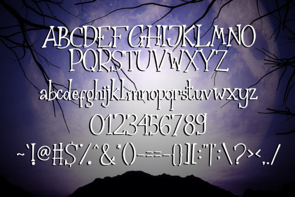 Print on Demand: The Nightmare Display Font By dmletter31 - Image 6