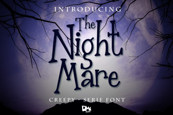 Print on Demand: The Nightmare Display Font By dmletter31