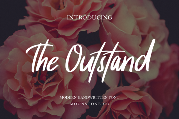 Print on Demand: The Outstand Script & Handwritten Font By Moonstone Co