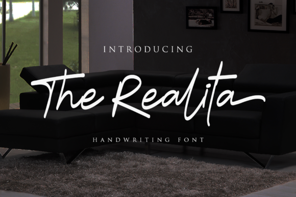 Print on Demand: The Realita Script & Handwritten Font By Arterfak Project