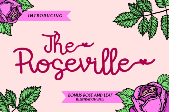 Print on Demand: The Roseville Script & Handwritten Font By illushvara