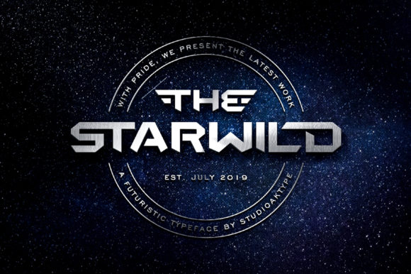 Print on Demand: The Starwild Display Font By StudioAKTYPE