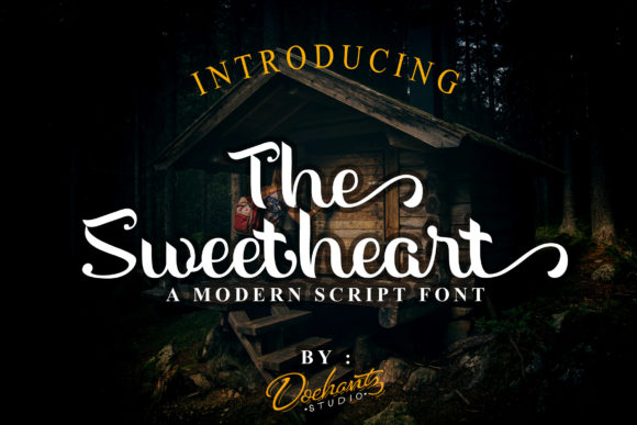 Print on Demand: The Sweetheart Script & Handwritten Font By Doehantz Studio