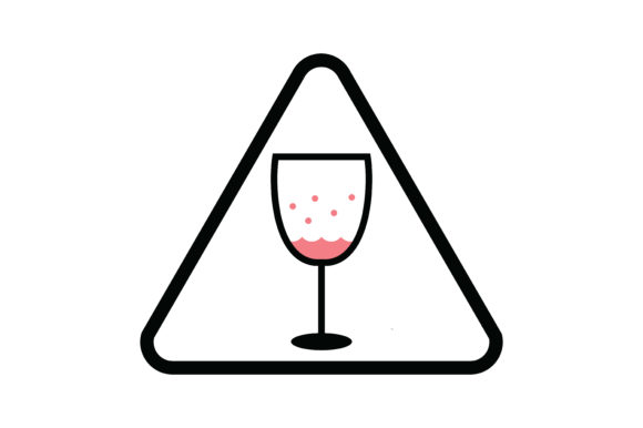 Download Free The Triangle Wine Glass Drink Icon Graphic By Yuhana Purwanti for Cricut Explore, Silhouette and other cutting machines.