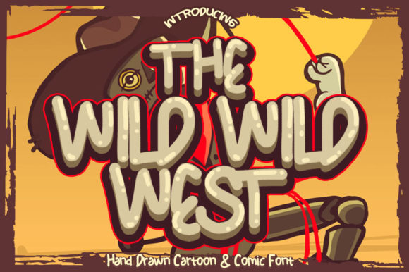 Print on Demand: The Wild Wild West Blackletter Font By fluffyartstudio - Image 1