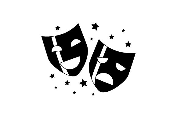 Download Free Theater Masks Svg Cut File By Creative Fabrica Crafts Creative for Cricut Explore, Silhouette and other cutting machines.