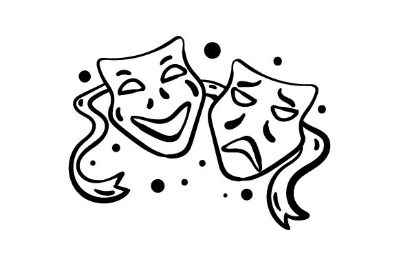 Download Free Theater Masks Line Art Svg Cut File By Creative Fabrica Crafts for Cricut Explore, Silhouette and other cutting machines.