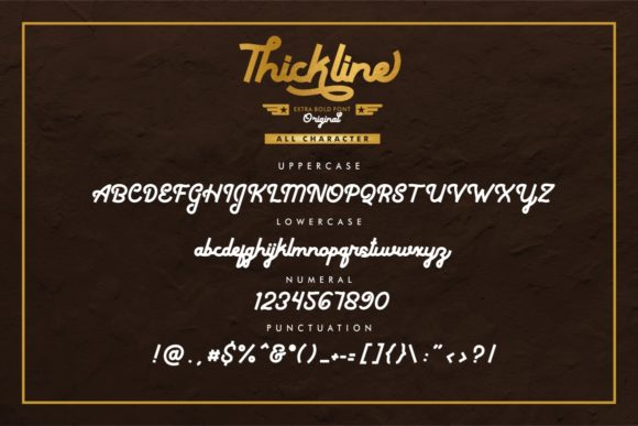 Print on Demand: Thickline Display Font By putracetol - Image 15