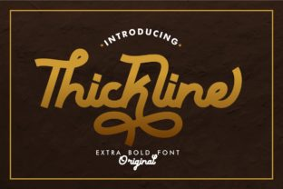 Print on Demand: Thickline Display Font By putracetol