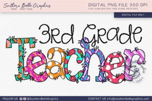 Third Grade Teacher Graphic By Southern Belle Graphics