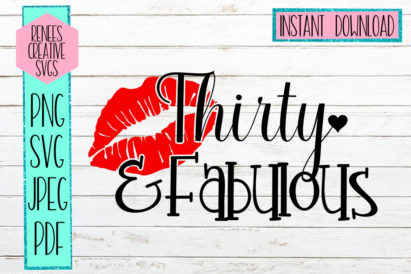 Download Free Thirty Fabulous Graphic By Reneescreativesvgs Creative Fabrica for Cricut Explore, Silhouette and other cutting machines.