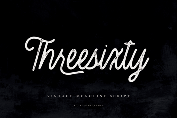 Print on Demand: Threesixty Script & Handwritten Font By Geranium.co