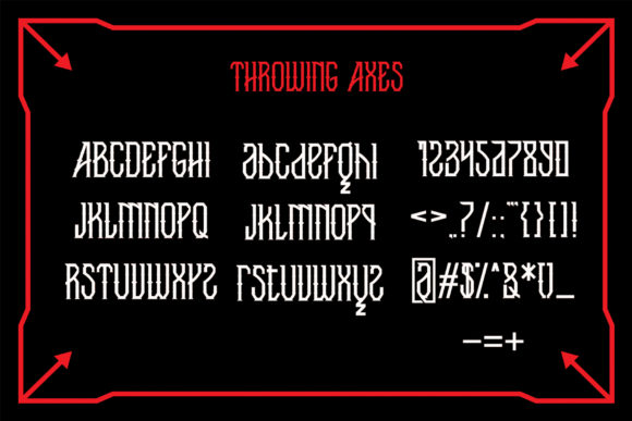 Throwing Axes Font By EN86-21 Image 4