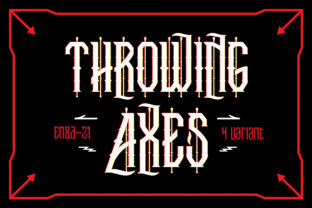 Throwing Axes Font By EN86-21