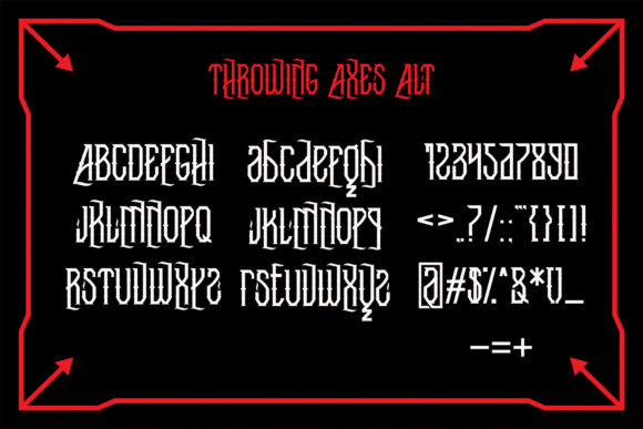 Throwing Axes Font By EN86-21 Image 6
