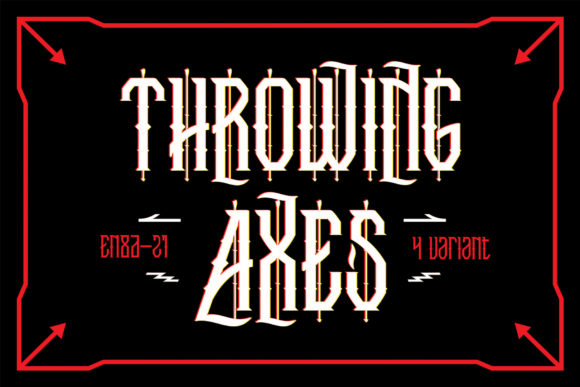 Print on Demand: Throwing Axes Blackletter Font By EN86-21