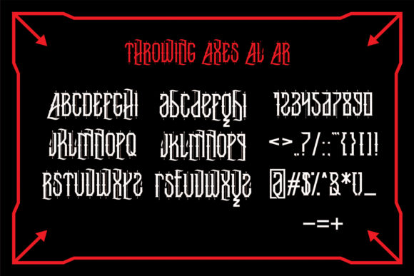 Throwing Axes Font By EN86-21 Image 7
