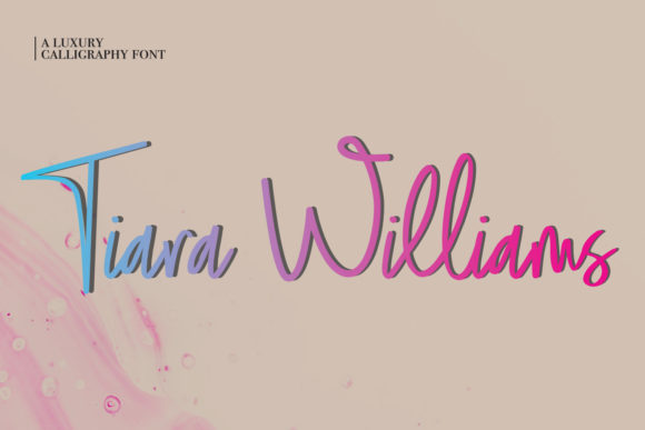 Print on Demand: Tiara Williams Script & Handwritten Font By Lemon Studio