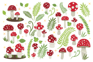 Toadstool Mushroom Clip Art Set Graphic By Running With Foxes