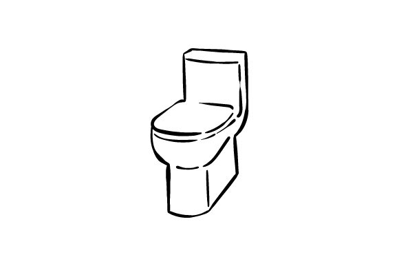 Download Free Toilet Line Art Svg Cut File By Creative Fabrica Crafts for Cricut Explore, Silhouette and other cutting machines.