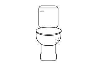 Toilet Line Art Style Craft Design By Creative Fabrica Crafts