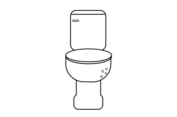 Download Free Toilet Line Art Style Svg Cut File By Creative Fabrica Crafts for Cricut Explore, Silhouette and other cutting machines.