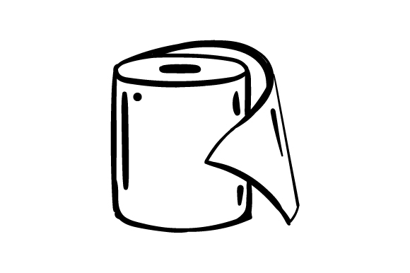 Download Free Toilet Paper Roll In Line Art Style Svg Cut File By Creative for Cricut Explore, Silhouette and other cutting machines.