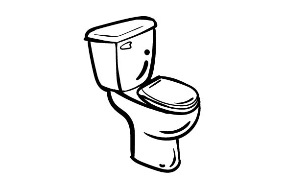 Download Free Toilet In Line Art Style Svg Cut File By Creative Fabrica Crafts for Cricut Explore, Silhouette and other cutting machines.