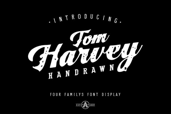 Print on Demand: Tom Harvey Script & Handwritten Font By Arthy