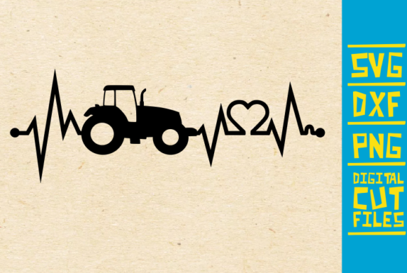Download Free Tractor Farm Heart Beat Ekg Graphic By Svgyeahyouknowme for Cricut Explore, Silhouette and other cutting machines.
