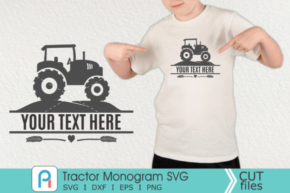 Tractor Monogram Svg, Tractor SVG, Tract Graphic Crafts By Pinoyartkreatib