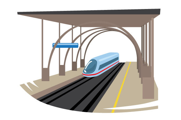 Download Free Train Station Svg Cut File By Creative Fabrica Crafts Creative for Cricut Explore, Silhouette and other cutting machines.