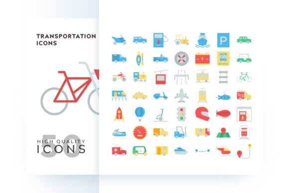 Transportation Icons Graphic By Goodware.Std