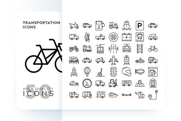 Print on Demand: Transportation Icons Graphic Icons By Goodware.Std