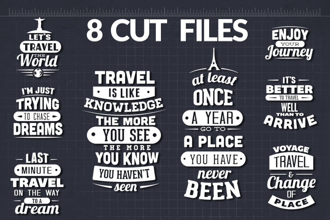 Download Free Travel Quotes Bundle Graphic By Craft N Cuts Creative Fabrica for Cricut Explore, Silhouette and other cutting machines.