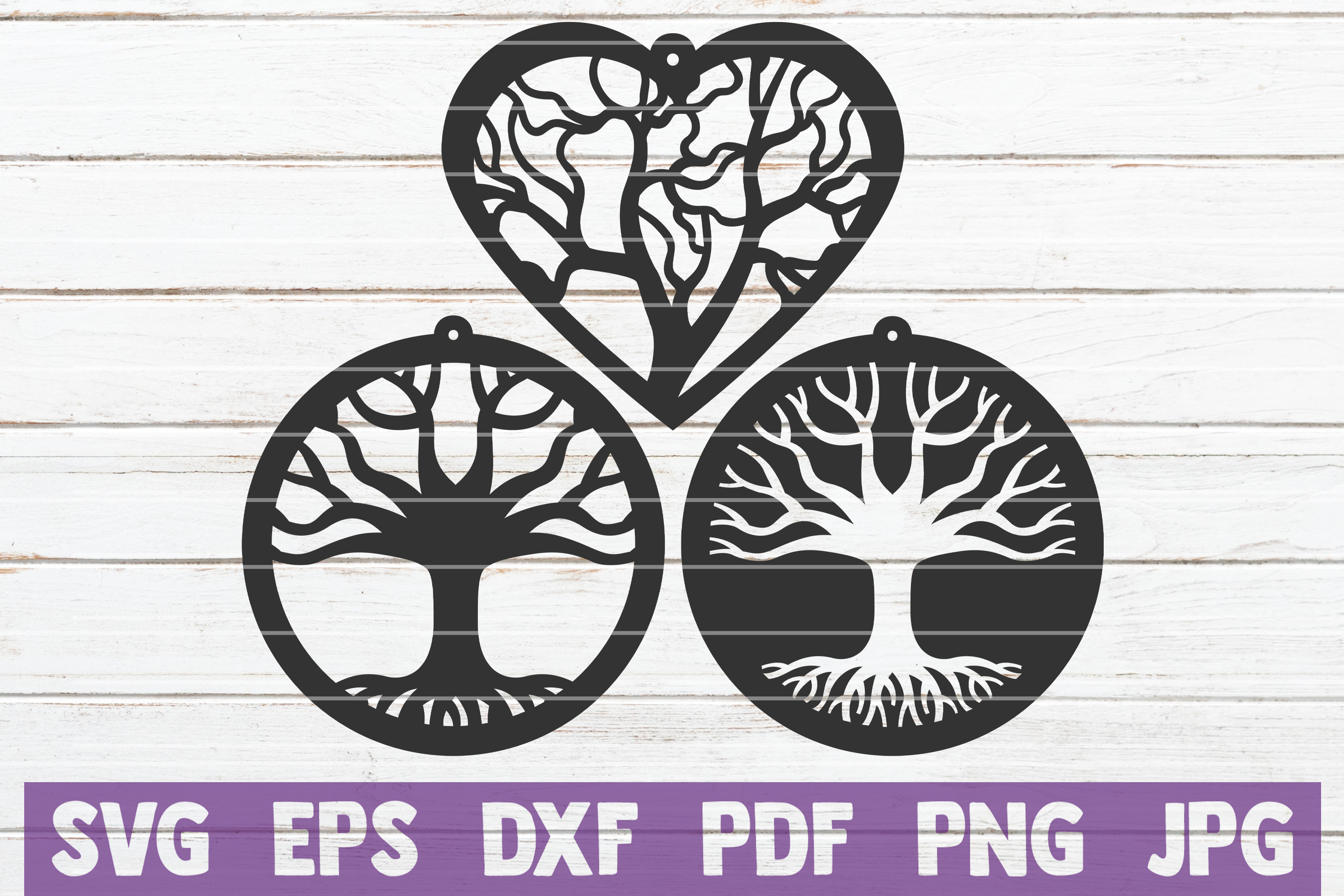 Download Free Tree Earrings Cut Files Bundle Graphic By Mintymarshmallows for Cricut Explore, Silhouette and other cutting machines.