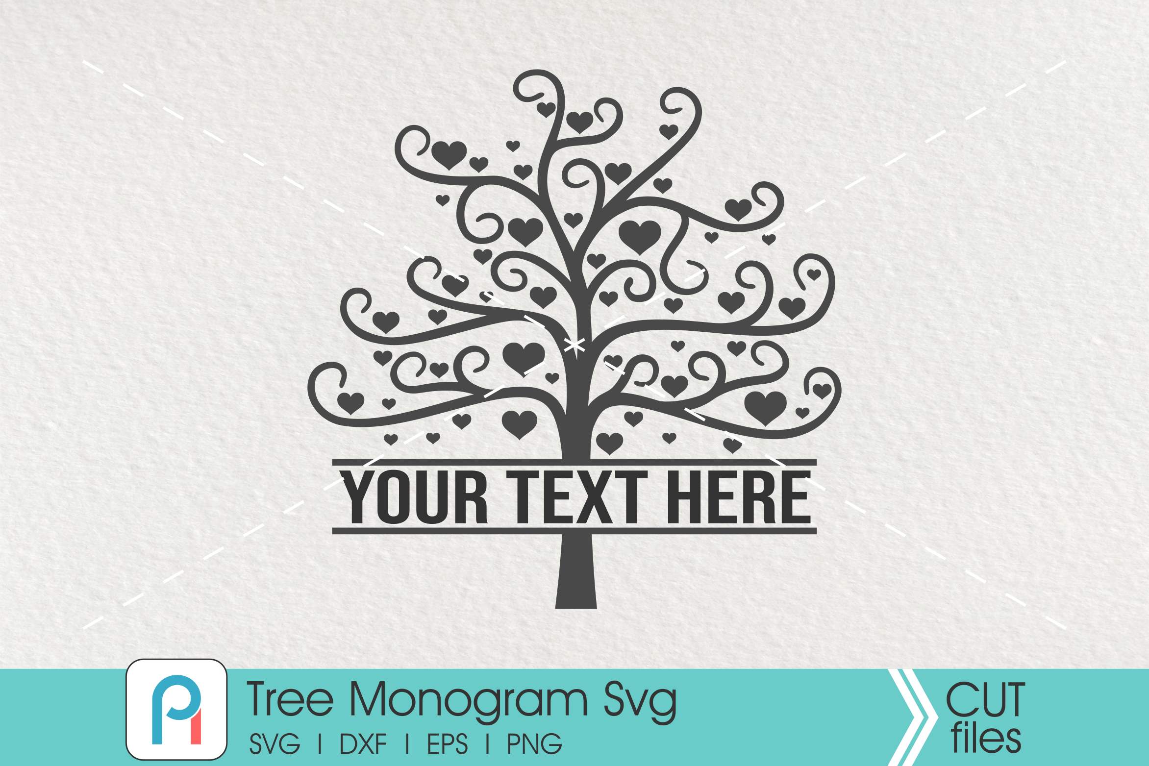 Download Free Tree Monogram Graphic By Pinoyartkreatib Creative Fabrica for Cricut Explore, Silhouette and other cutting machines.