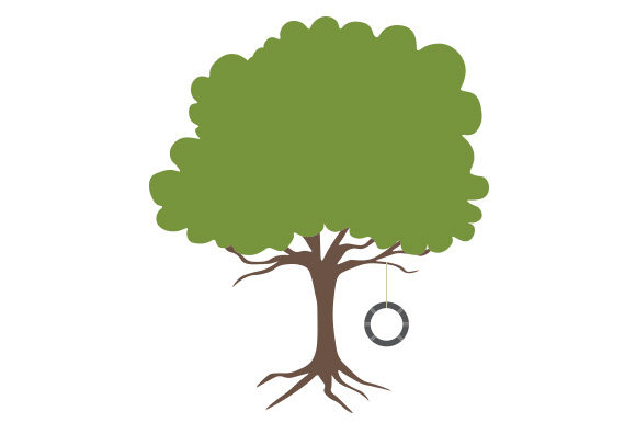 Tree With Tire Swing Svg Cut File By Creative Fabrica Crafts