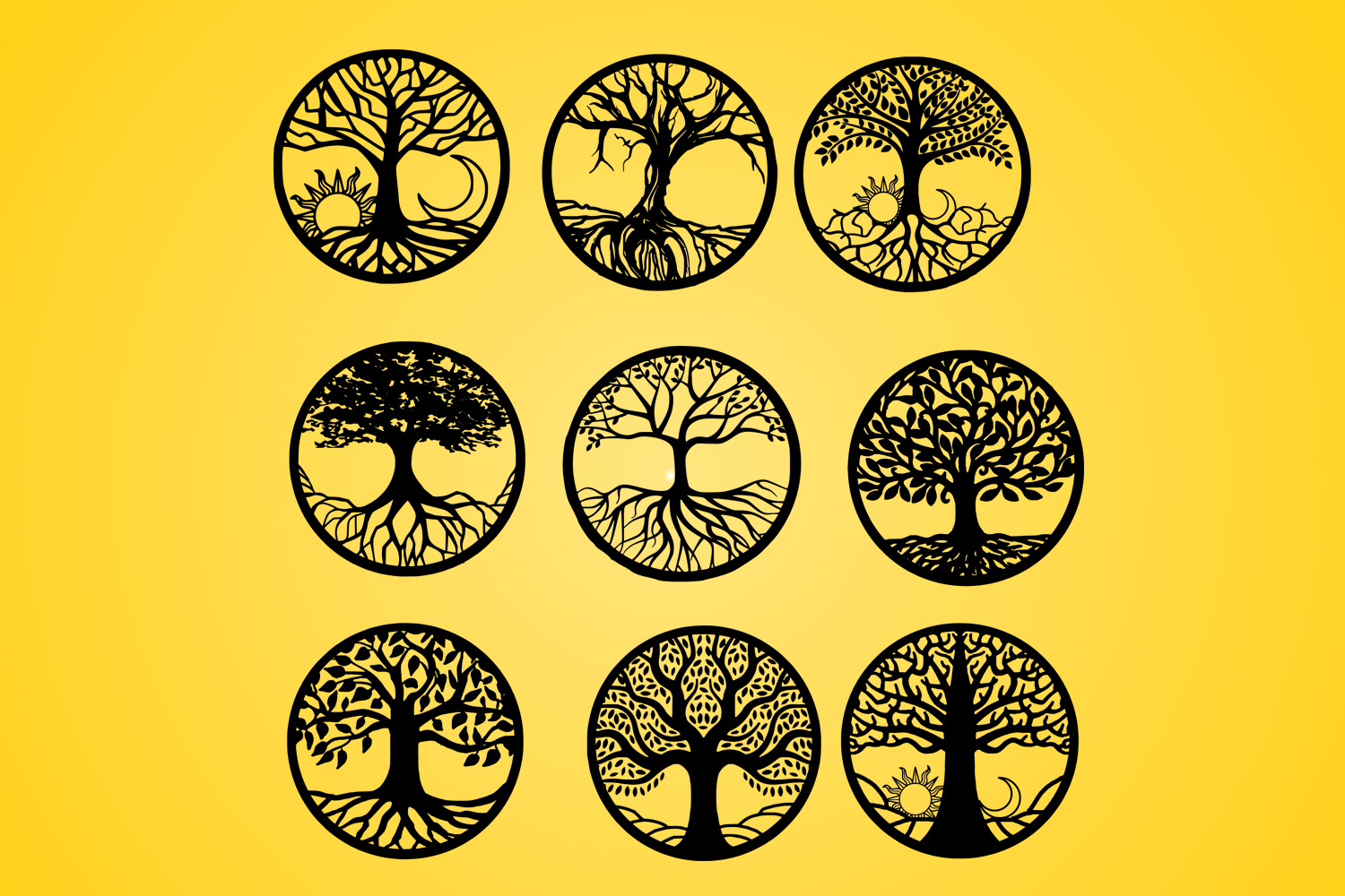 Download Free Tree Life Of Tree Vector Silhouette Graphic By Johanruartist for Cricut Explore, Silhouette and other cutting machines.