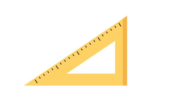 Triangle Ruler Icon Graphic By Home Sweet