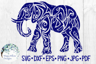 Download Free Tribal Elephant Graphic By Wispywillowdesigns Creative Fabrica for Cricut Explore, Silhouette and other cutting machines.