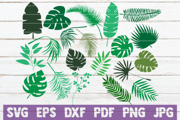 Tropical Leaves Bundle | Cut Files Graphic Illustrations By MintyMarshmallows
