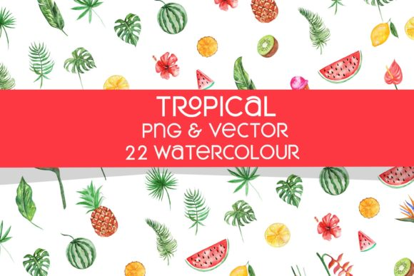 Tropical Water Colour Graphic By MLKWSN studio