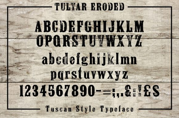 Tulyar Eroded Font By K22 Foundry Image 2
