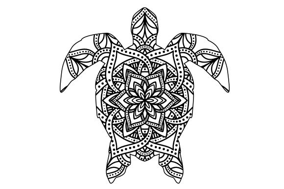 Turtle Mandala Line Art Style Animales Archivo de Corte Craft Por Creative Fabrica Crafts