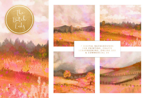 Print on Demand: Tuscany Landscape Backgrounds & Papers Graphic Backgrounds By daphnepopuliers - Image 2