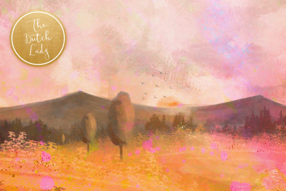 Print on Demand: Tuscany Landscape Backgrounds & Papers Graphic Backgrounds By daphnepopuliers - Image 4
