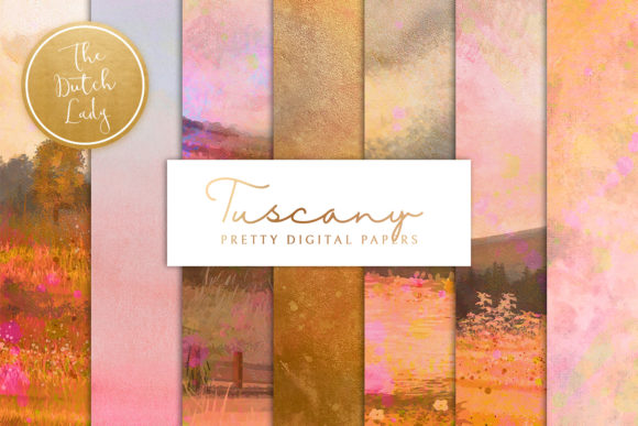Print on Demand: Tuscany Landscape Backgrounds & Papers Graphic Backgrounds By daphnepopuliers